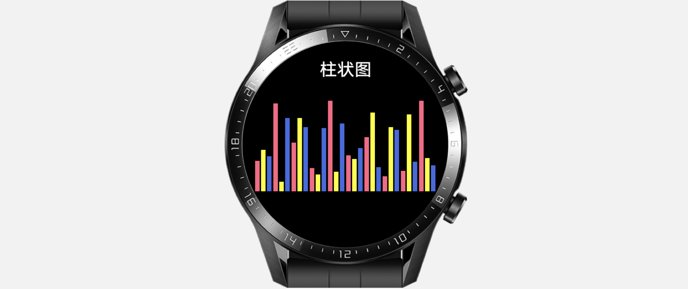 #2020征文-手表#【图解鸿蒙】使用绘图组件Canvas绘制柱状图