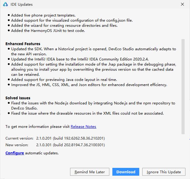 强大的鸿蒙开发环境 —— DevEco Studio V2.1 Beta3发布